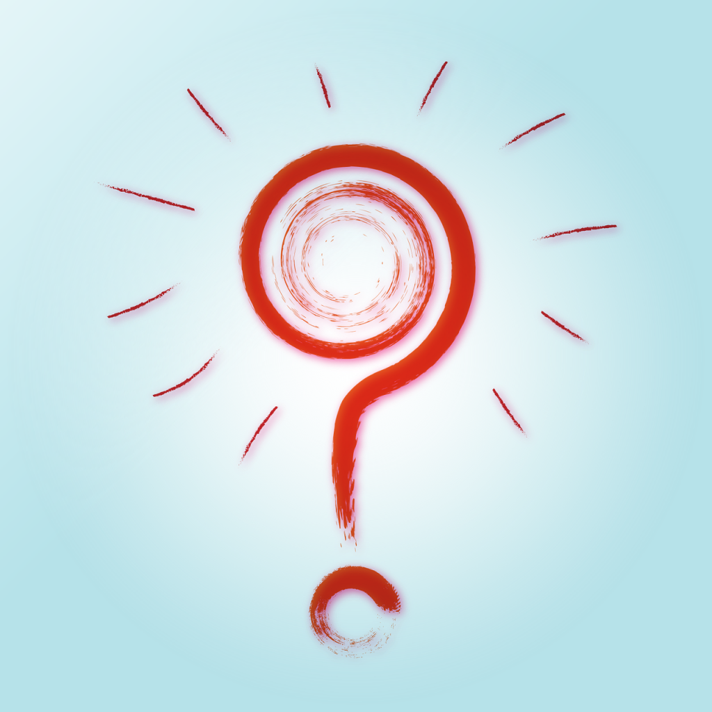 question mark, background, red